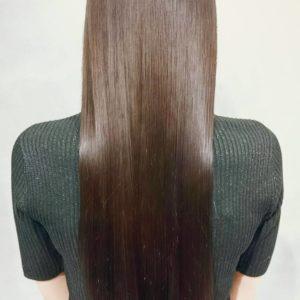 名古屋栄・伏見で美髪チャージが人気の美容室 HANS ハンス 縮毛矯正ロングヘア